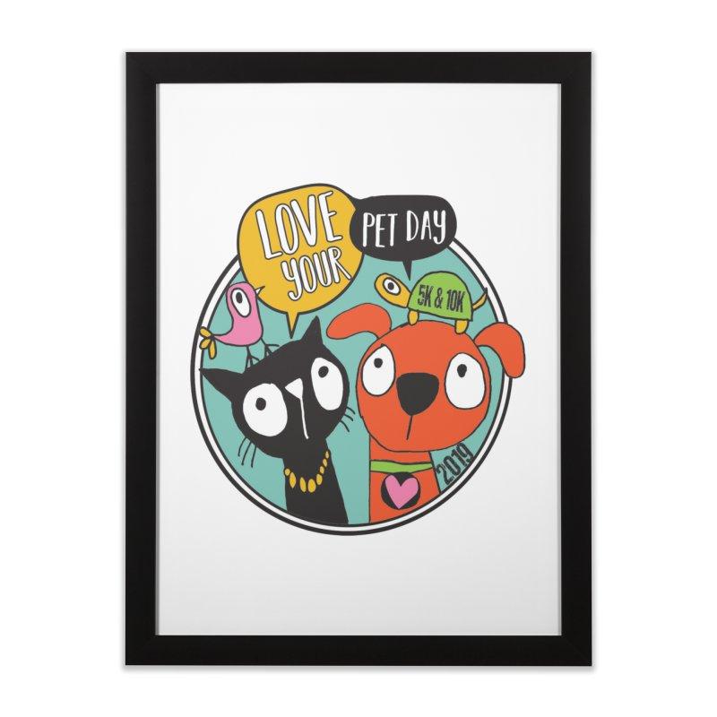 Love Your Pet 5K & 10K Home Framed Fine Art Print by moonjoggers's Artist Shop