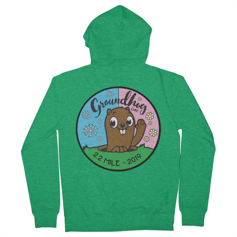 Groundhog Day 2.2 Mile Women's French Terry Zip-Up Hoody by moonjoggers's Artist Shop