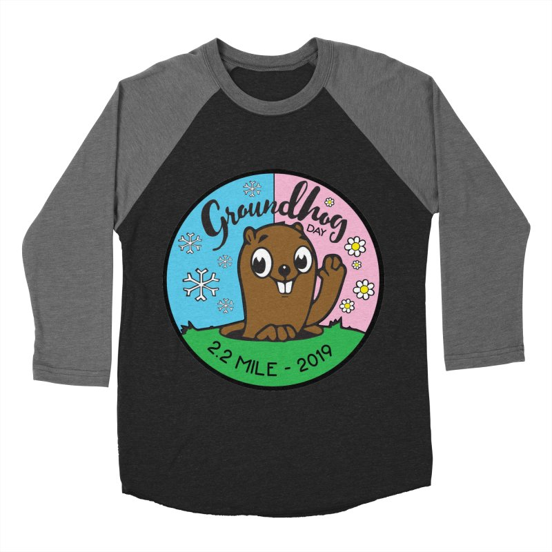 Groundhog Day 2.2 Mile Men's Baseball Triblend Longsleeve T-Shirt by moonjoggers's Artist Shop