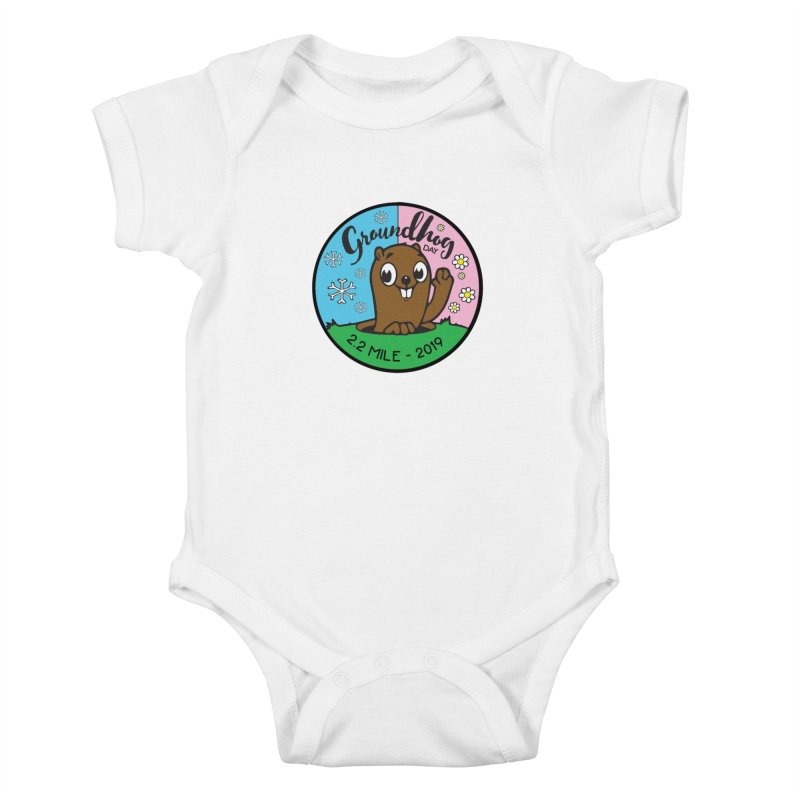 Groundhog Day 2.2 Mile Kids Baby Bodysuit by moonjoggers's Artist Shop