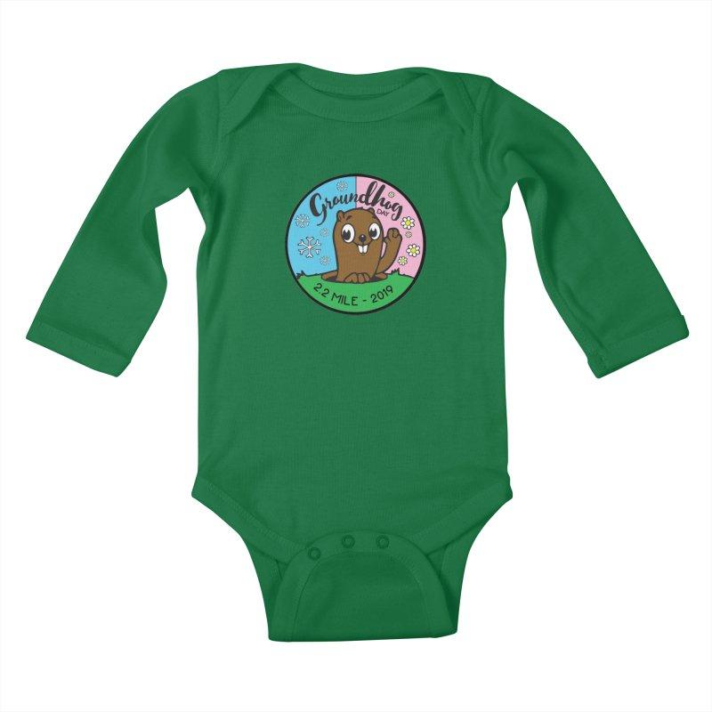 Groundhog Day 2.2 Mile Kids Baby Longsleeve Bodysuit by moonjoggers's Artist Shop