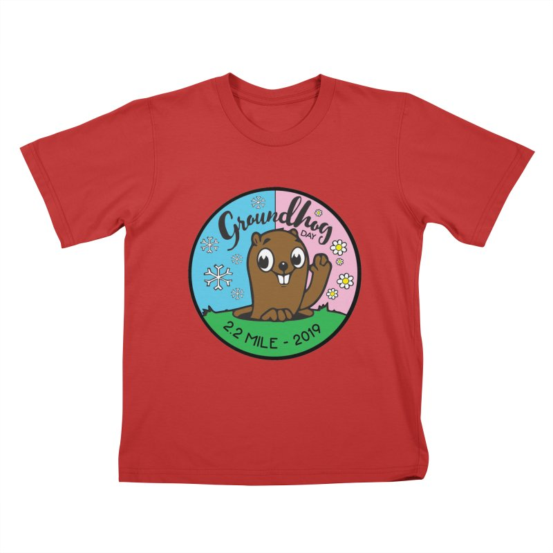 Groundhog Day 2.2 Mile Kids T-Shirt by moonjoggers's Artist Shop