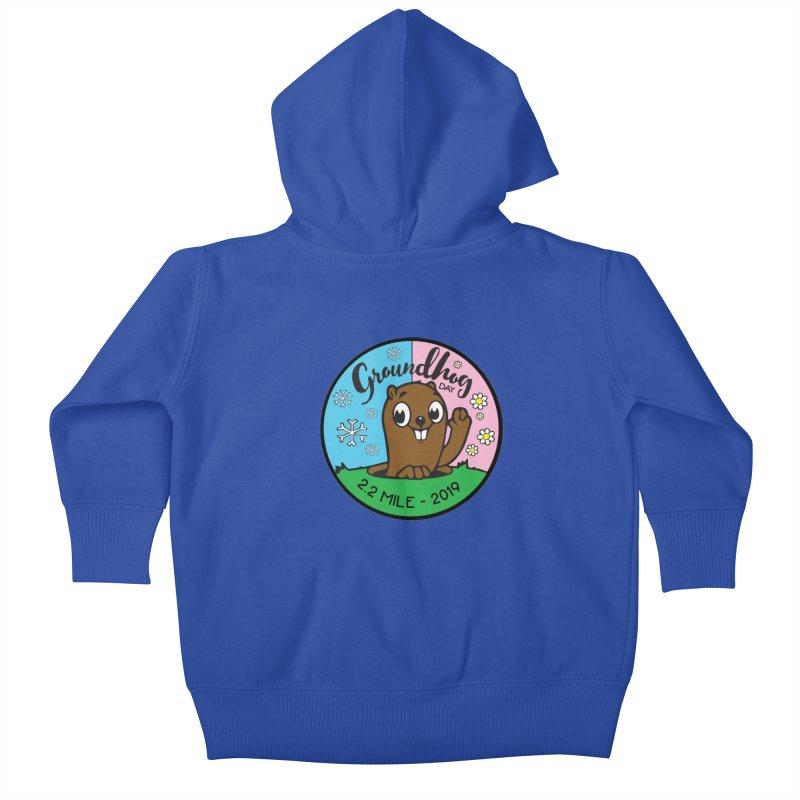 Groundhog Day 2.2 Mile Kids Baby Zip-Up Hoody by moonjoggers's Artist Shop