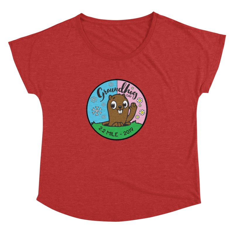 Groundhog Day 2.2 Mile Women's Dolman Scoop Neck by moonjoggers's Artist Shop