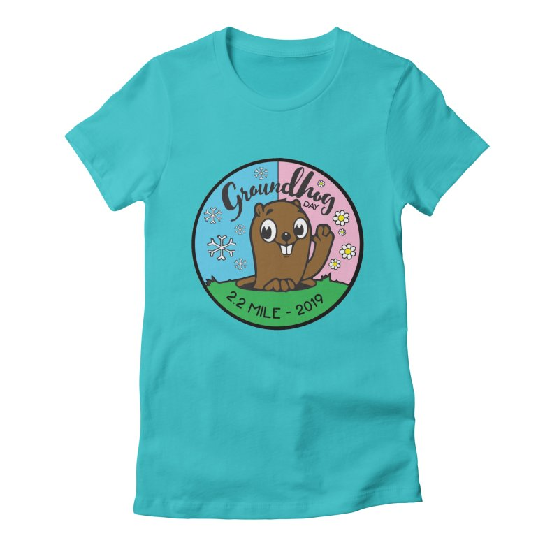 Groundhog Day 2.2 Mile Women's Fitted T-Shirt by moonjoggers's Artist Shop