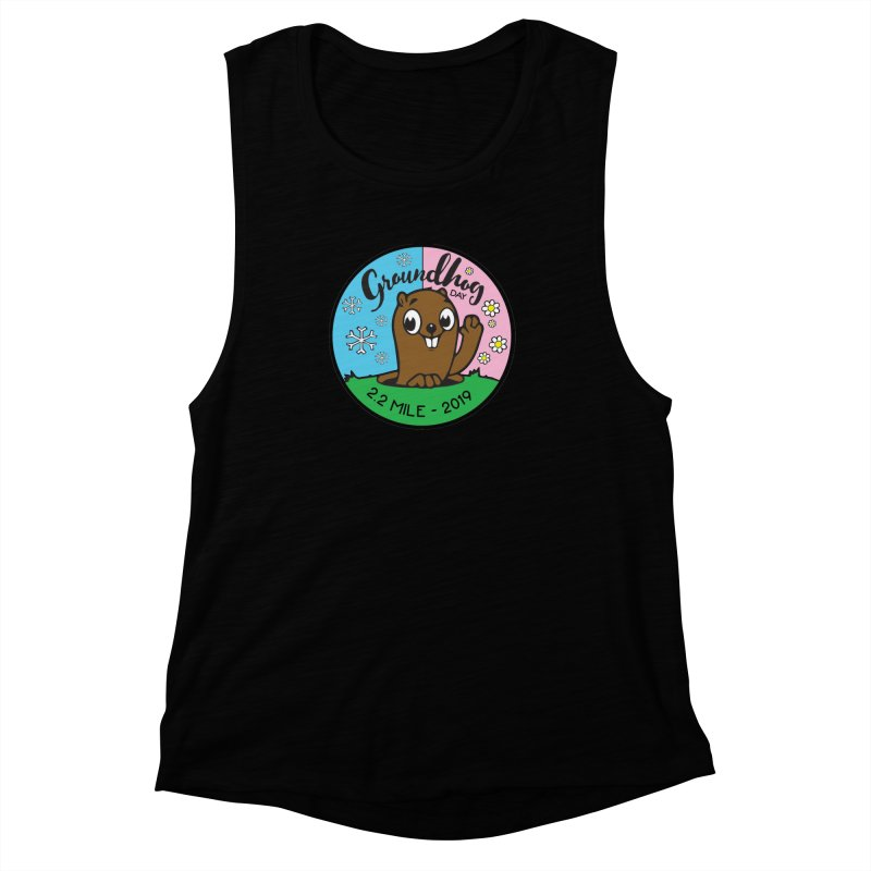 Groundhog Day 2.2 Mile Women's Muscle Tank by moonjoggers's Artist Shop