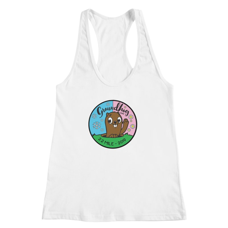 Groundhog Day 2.2 Mile Women's Racerback Tank by moonjoggers's Artist Shop