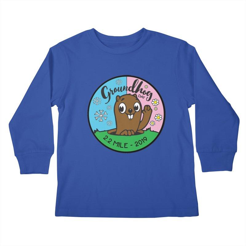 Groundhog Day 2.2 Mile Kids Longsleeve T-Shirt by moonjoggers's Artist Shop