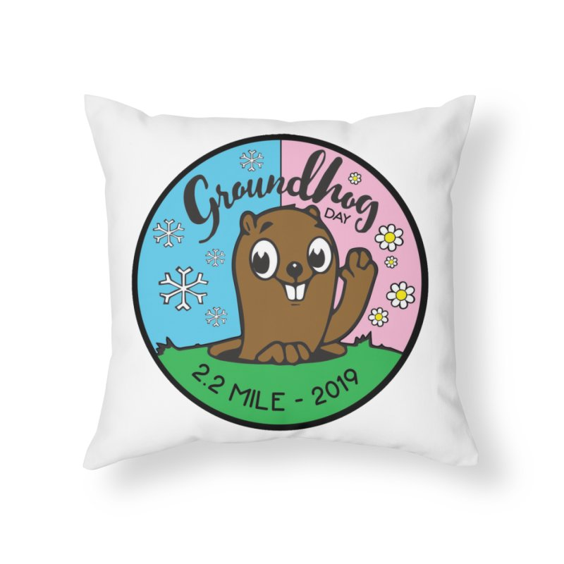 Groundhog Day 2.2 Mile Home Throw Pillow by moonjoggers's Artist Shop