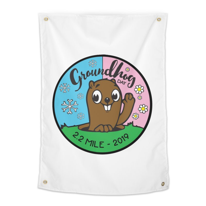 Groundhog Day 2.2 Mile Home Tapestry by moonjoggers's Artist Shop