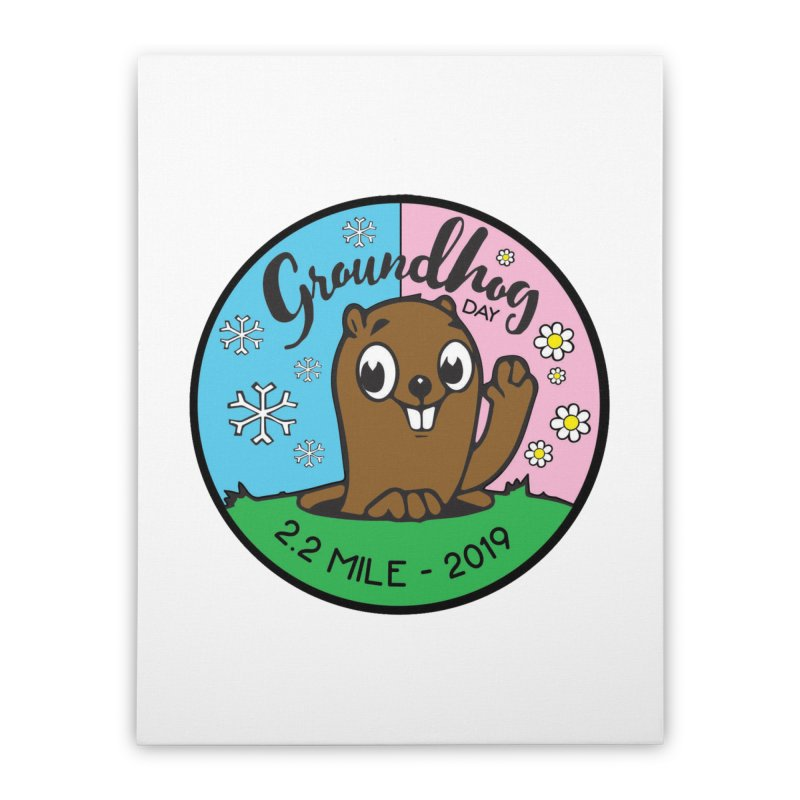 Groundhog Day 2.2 Mile Home Stretched Canvas by moonjoggers's Artist Shop