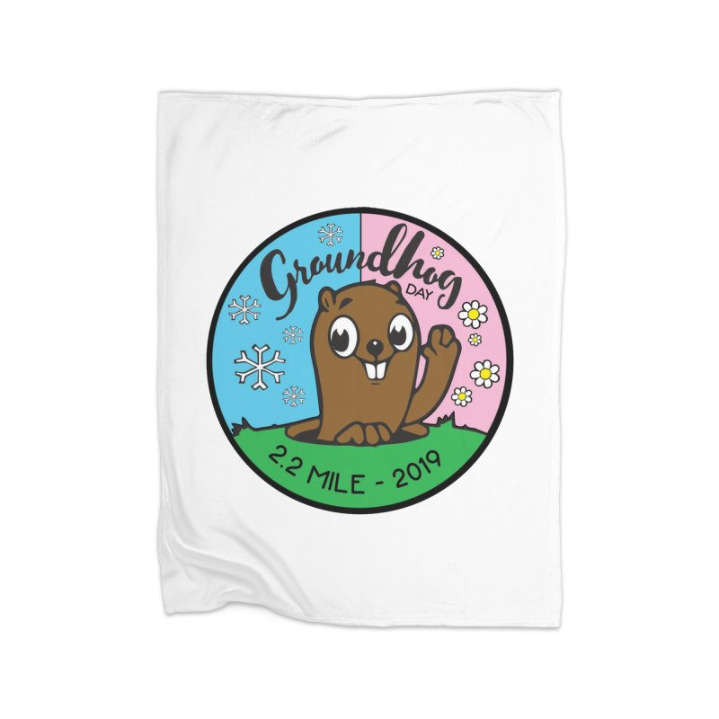 Groundhog Day 2.2 Mile Home Blanket by moonjoggers's Artist Shop