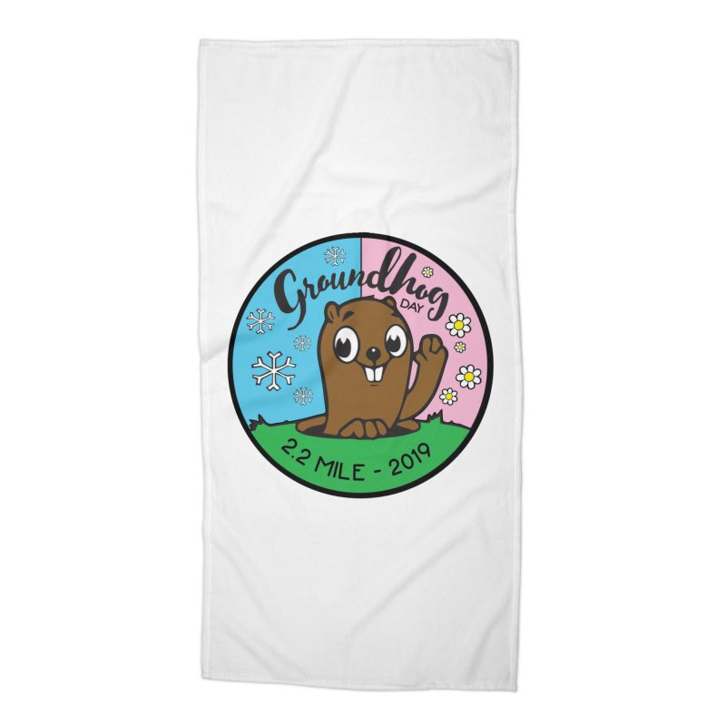 Groundhog Day 2.2 Mile Accessories Beach Towel by moonjoggers's Artist Shop