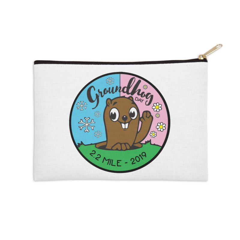 Groundhog Day 2.2 Mile Accessories Zip Pouch by moonjoggers's Artist Shop