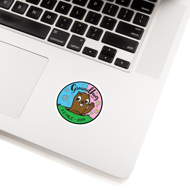 Groundhog Day 2.2 Mile Accessories Sticker by moonjoggers's Artist Shop