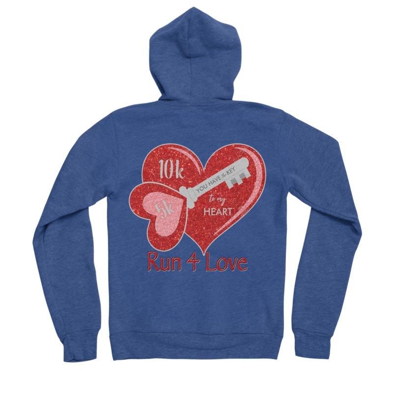 Run 4 Love 5K & 10K Women's Sponge Fleece Zip-Up Hoody by moonjoggers's Artist Shop