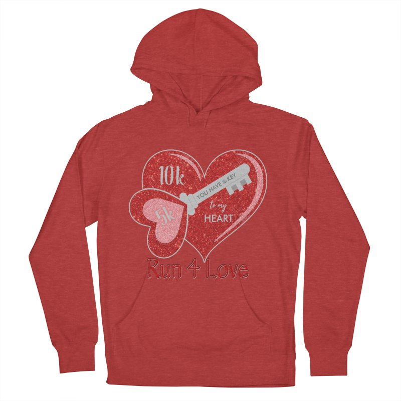 Run 4 Love 5K & 10K Women's French Terry Pullover Hoody by moonjoggers's Artist Shop