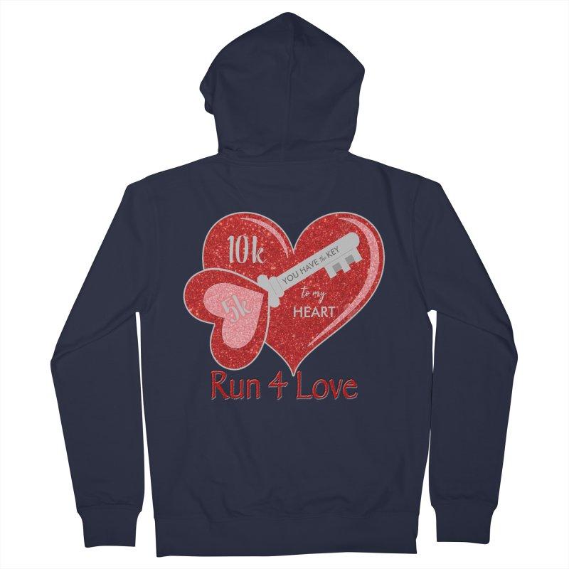 Run 4 Love 5K & 10K Men's French Terry Zip-Up Hoody by moonjoggers's Artist Shop