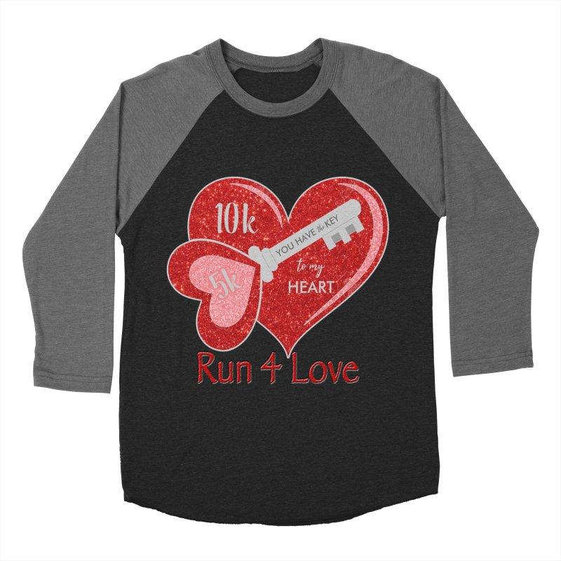 Run 4 Love 5K & 10K Women's Baseball Triblend Longsleeve T-Shirt by moonjoggers's Artist Shop