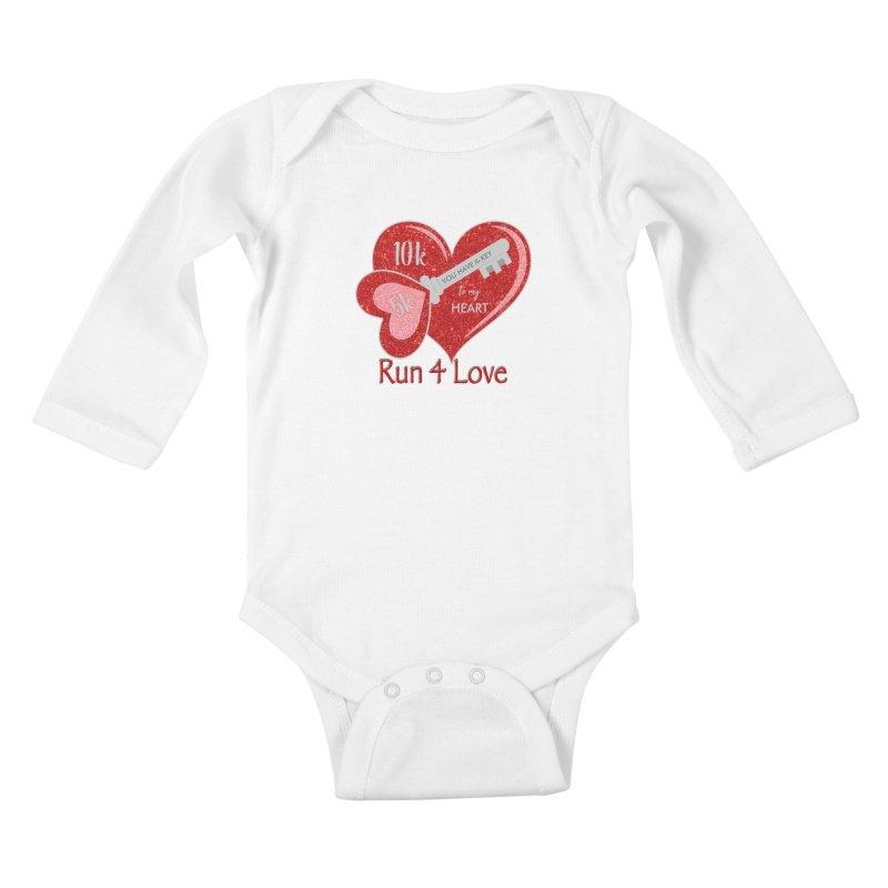 Run 4 Love 5K & 10K Kids Baby Longsleeve Bodysuit by moonjoggers's Artist Shop