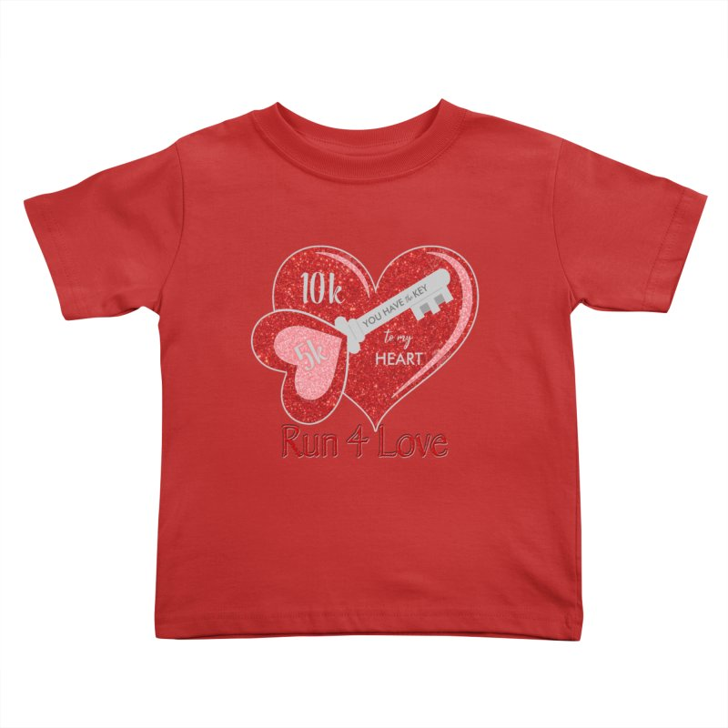 Run 4 Love 5K & 10K Kids Toddler T-Shirt by moonjoggers's Artist Shop