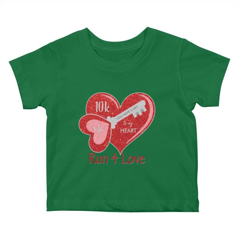 Run 4 Love 5K & 10K Kids Baby T-Shirt by moonjoggers's Artist Shop