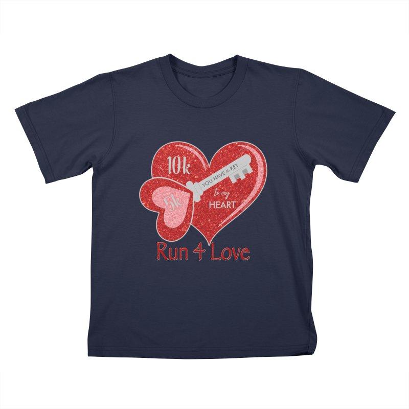 Run 4 Love 5K & 10K Kids T-Shirt by moonjoggers's Artist Shop