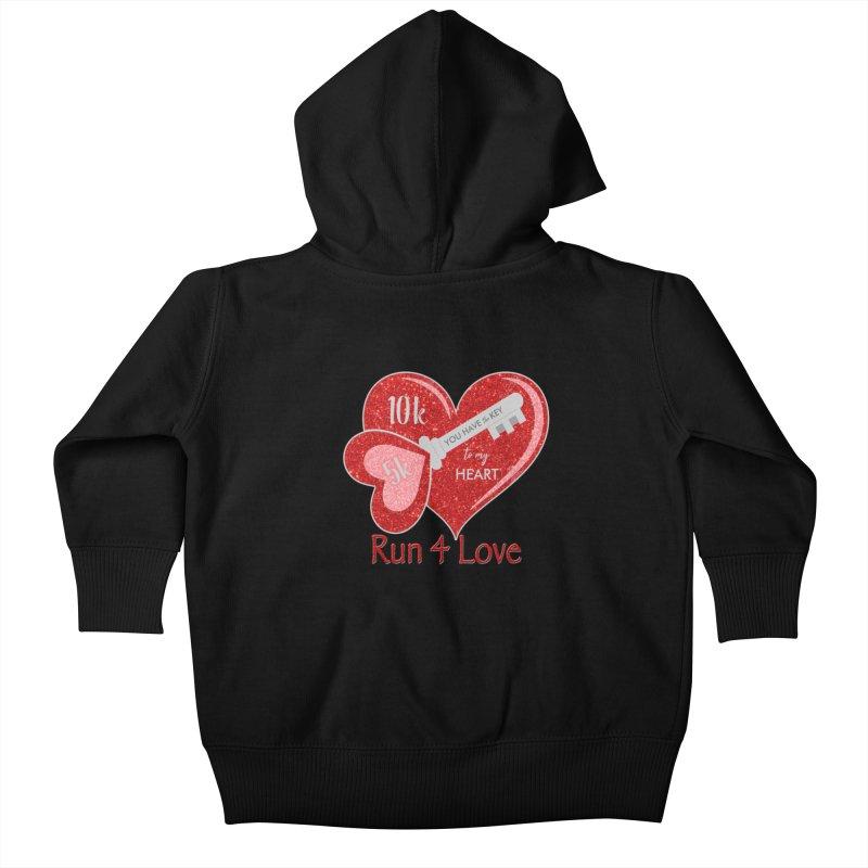 Run 4 Love 5K & 10K Kids Baby Zip-Up Hoody by moonjoggers's Artist Shop