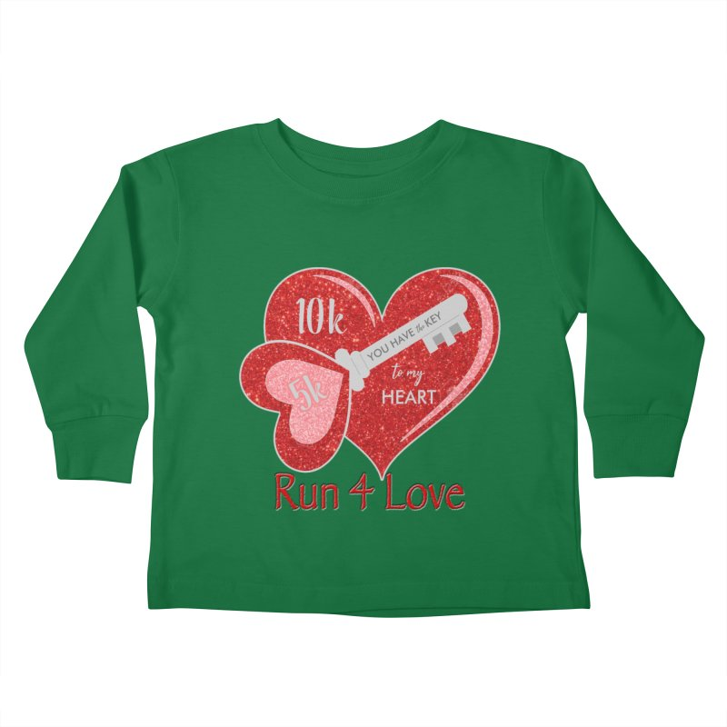 Run 4 Love 5K & 10K Kids Toddler Longsleeve T-Shirt by moonjoggers's Artist Shop