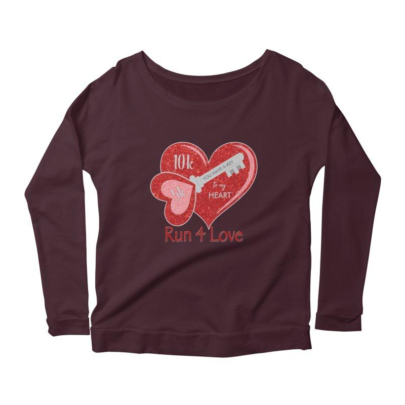 Run 4 Love 5K & 10K Women's Scoop Neck Longsleeve T-Shirt by moonjoggers's Artist Shop