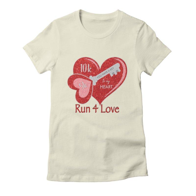 Run 4 Love 5K & 10K Women's Fitted T-Shirt by moonjoggers's Artist Shop
