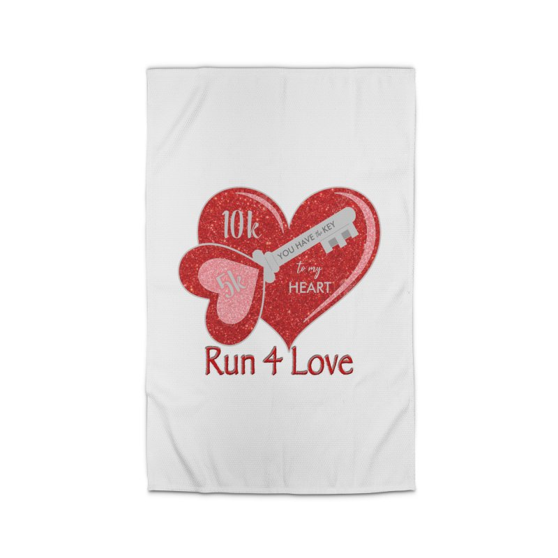Run 4 Love 5K & 10K Home Rug by moonjoggers's Artist Shop