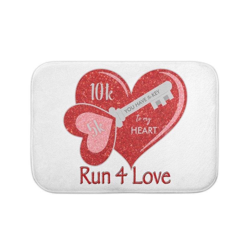 Run 4 Love 5K & 10K Home Bath Mat by moonjoggers's Artist Shop