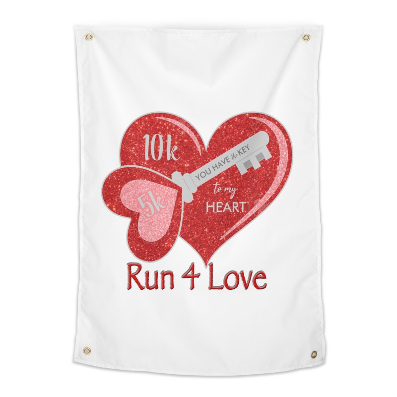 Run 4 Love 5K & 10K Home Tapestry by moonjoggers's Artist Shop