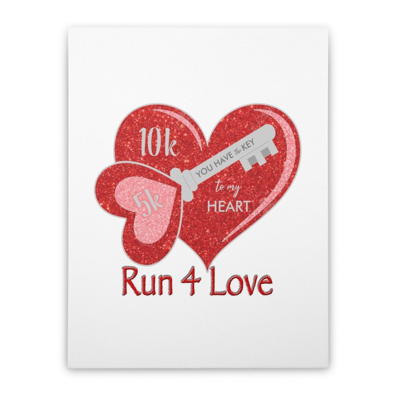 Run 4 Love 5K & 10K Home Stretched Canvas by moonjoggers's Artist Shop