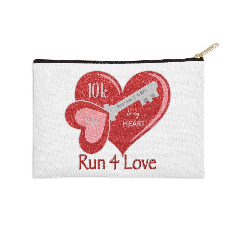 Run 4 Love 5K & 10K Accessories Zip Pouch by moonjoggers's Artist Shop