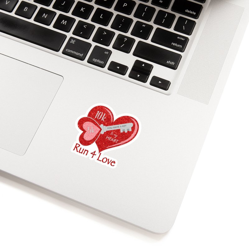 Run 4 Love 5K & 10K Accessories Sticker by moonjoggers's Artist Shop