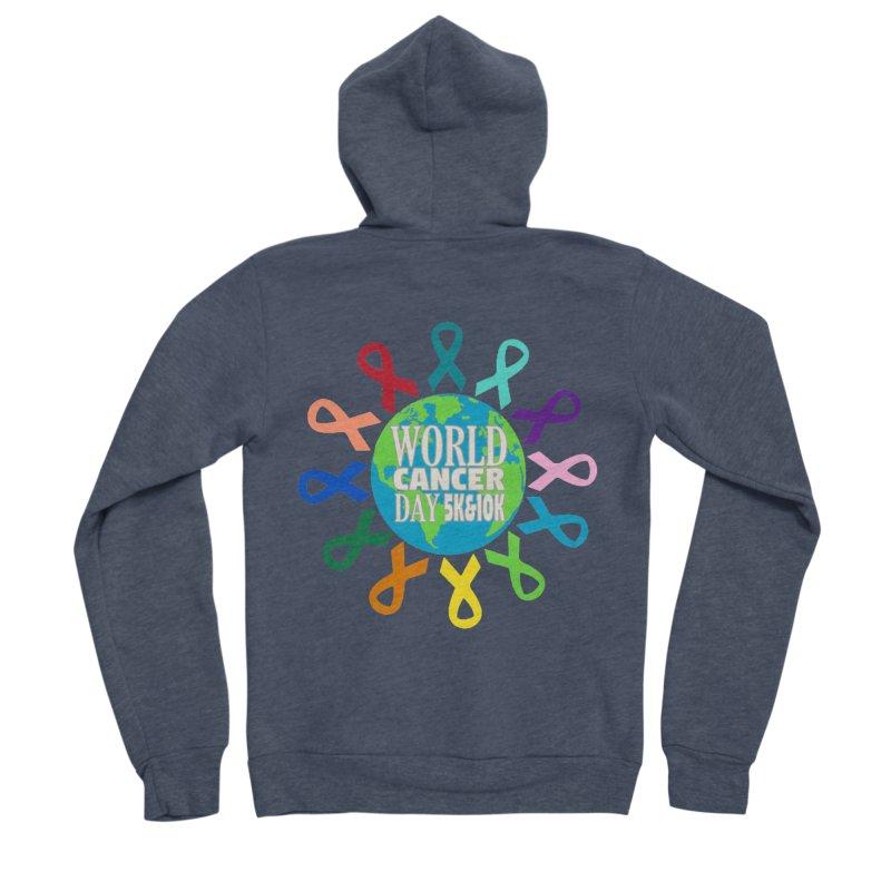 World Cancer Day 5K & 10K Women's Sponge Fleece Zip-Up Hoody by moonjoggers's Artist Shop
