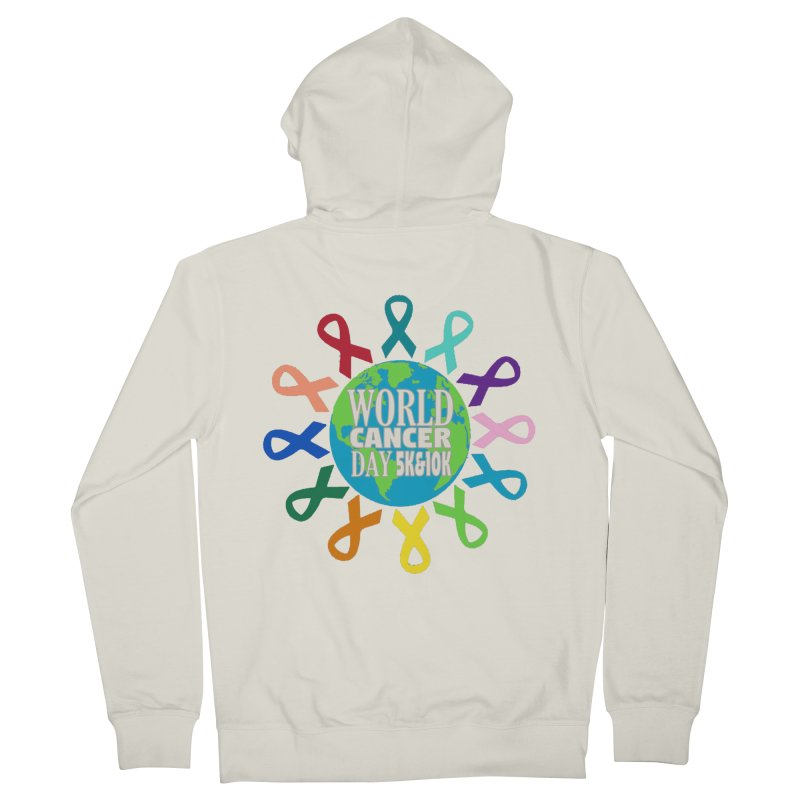World Cancer Day 5K & 10K Women's French Terry Zip-Up Hoody by moonjoggers's Artist Shop