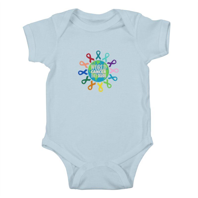 World Cancer Day 5K & 10K Kids Baby Bodysuit by moonjoggers's Artist Shop