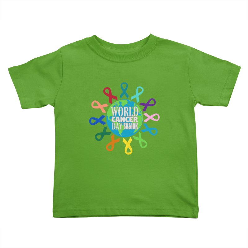 World Cancer Day 5K & 10K Kids Toddler T-Shirt by moonjoggers's Artist Shop