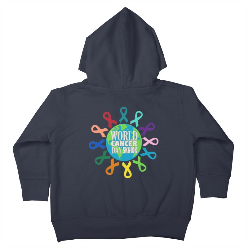 World Cancer Day 5K & 10K Kids Toddler Zip-Up Hoody by moonjoggers's Artist Shop