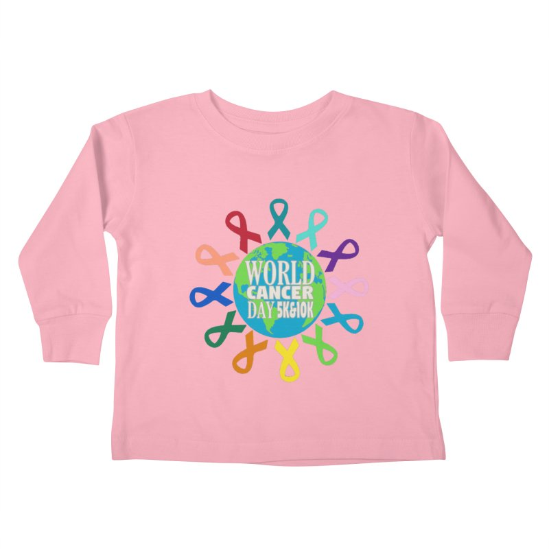 World Cancer Day 5K & 10K Kids Toddler Longsleeve T-Shirt by moonjoggers's Artist Shop
