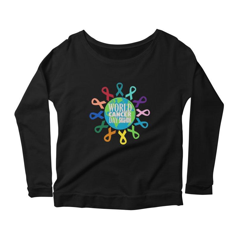 World Cancer Day 5K & 10K Women's Scoop Neck Longsleeve T-Shirt by moonjoggers's Artist Shop