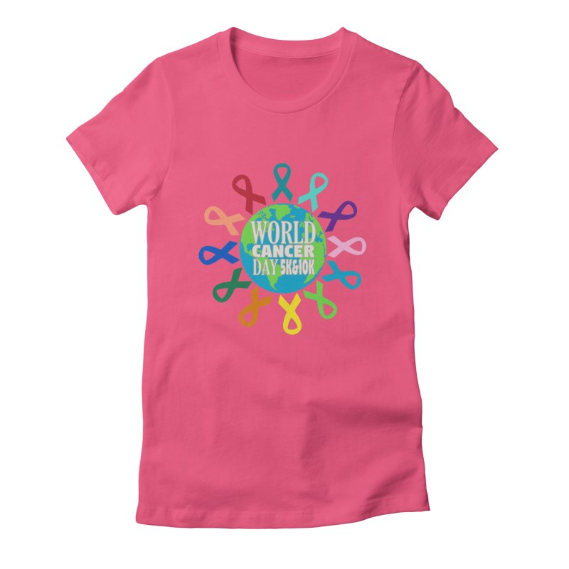 World Cancer Day 5K & 10K Women's Fitted T-Shirt by moonjoggers's Artist Shop