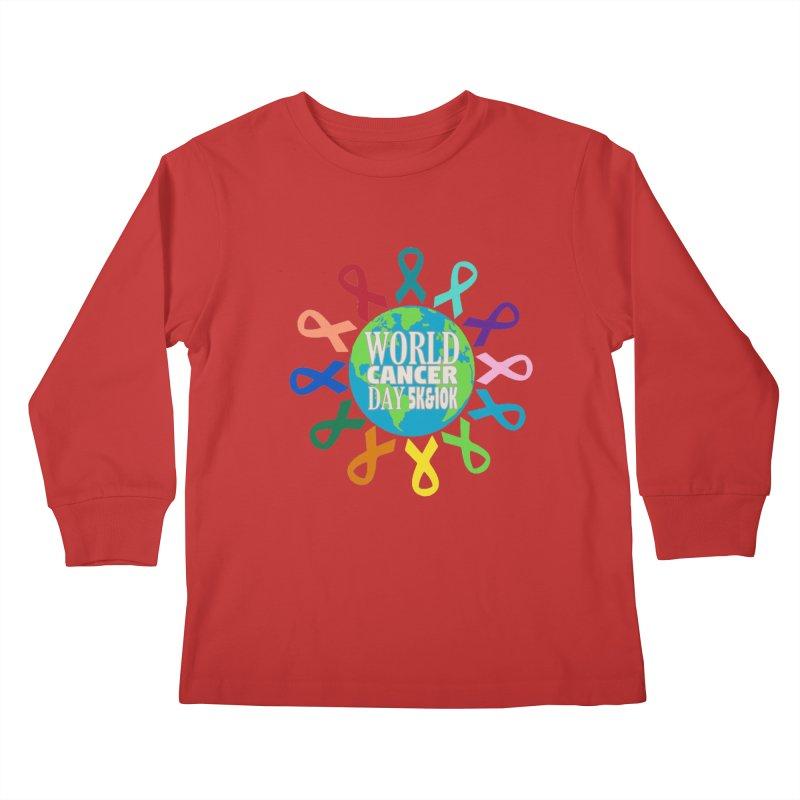 World Cancer Day 5K & 10K Kids Longsleeve T-Shirt by moonjoggers's Artist Shop