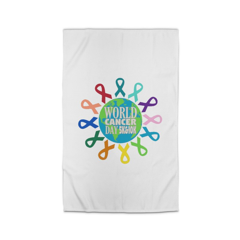 World Cancer Day 5K & 10K Home Rug by moonjoggers's Artist Shop