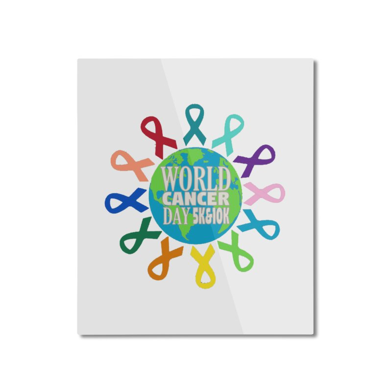 World Cancer Day 5K & 10K Home Mounted Aluminum Print by moonjoggers's Artist Shop