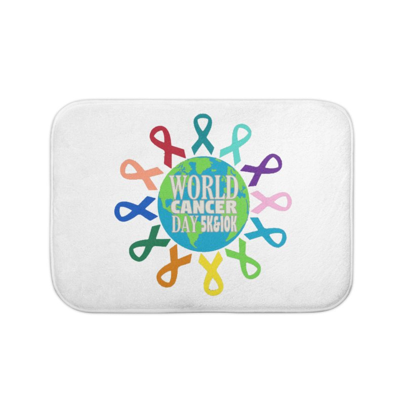 World Cancer Day 5K & 10K Home Bath Mat by moonjoggers's Artist Shop