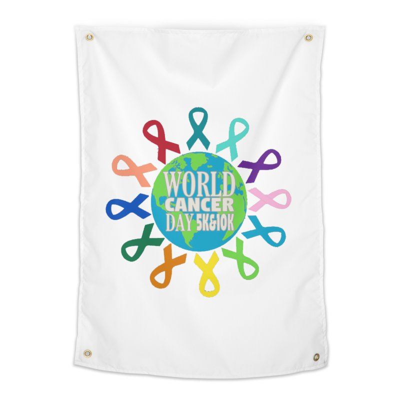 World Cancer Day 5K & 10K Home Tapestry by moonjoggers's Artist Shop